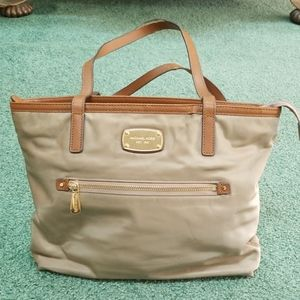 Michael Kors nylon tote. In used condition.